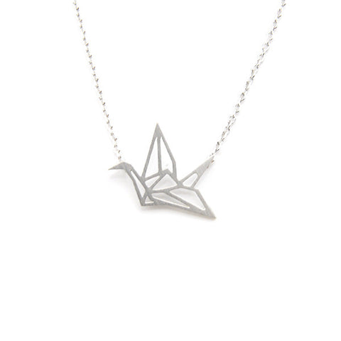 Crane Silver Short Necklace
