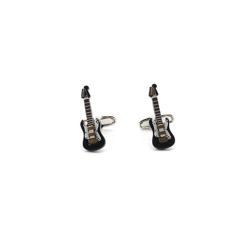 Electric Guitar Black Cufflinks