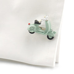 Scooter Vintage Blue Cufflinks