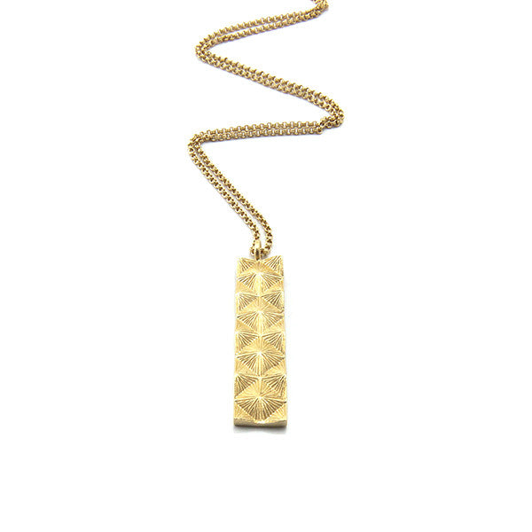 World Peace Long Gold Necklace