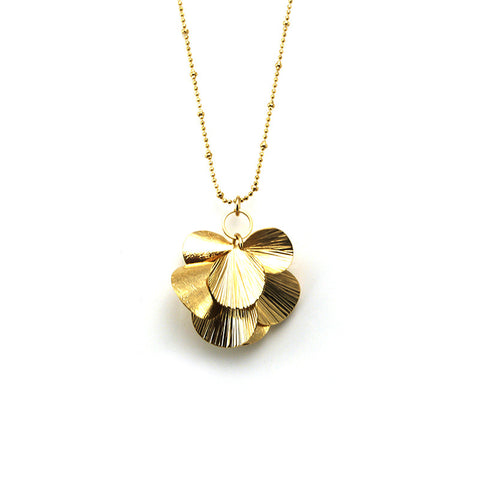 Orbicular Gold Long Necklace