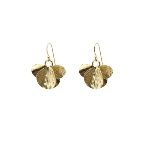 Orbicular Gold Earrings