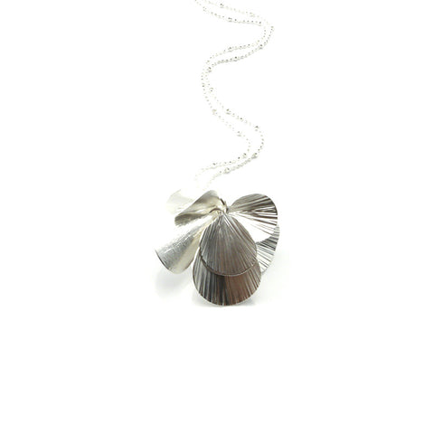 Orbicular Silver Long Necklace
