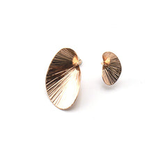 Reniform Rose Gold Studs