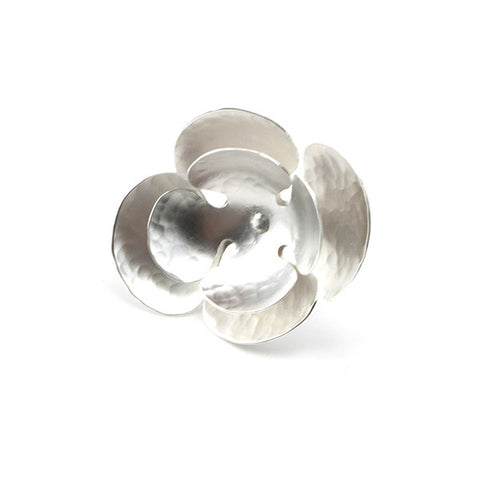 Crocus Flower Silver Ring