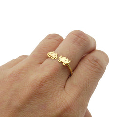 Invader Gold Ring