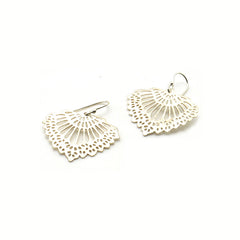 French Fans Sterling Silver Earrings
