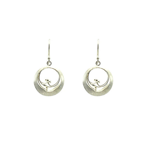 Small Ovary Sterling Silver Earrings