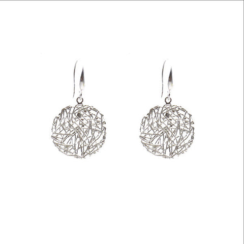 Round Nest Sterling Silver Earrings