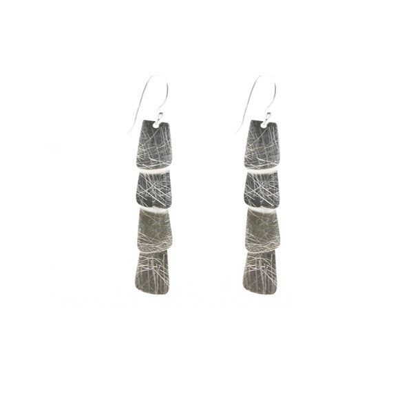 Trapezium Quartet Sterling Silver Earrings