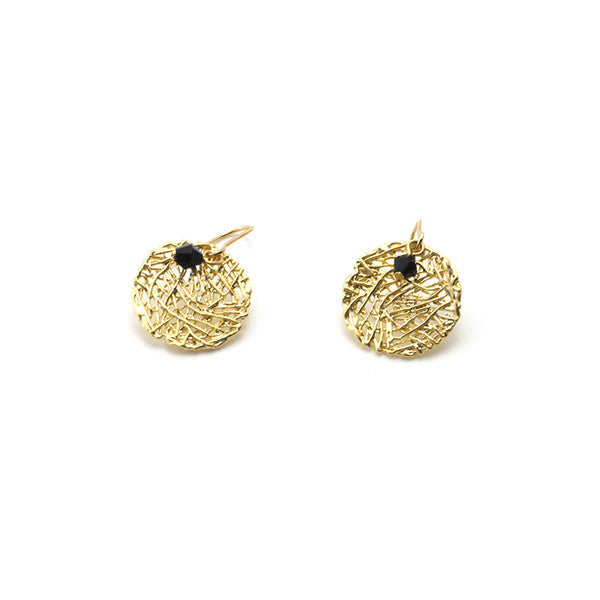 Small Round Nest Pattern Earrings