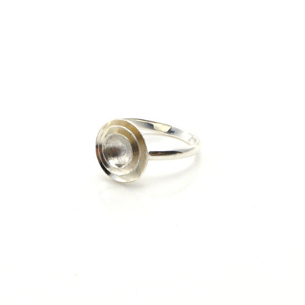 Round & Round Sterling Silver Adjustable Ring