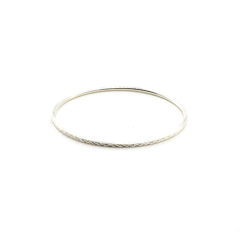 Shinny Sterling Silver Bangle