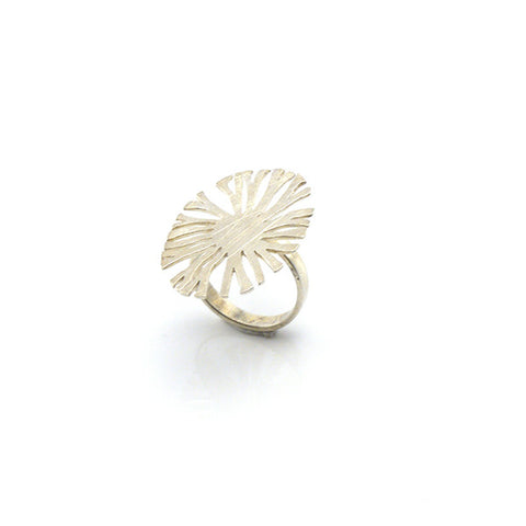 Fan Coral Sterling Silver Adjustable Ring