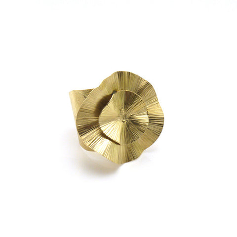 Round Chips Gold Bangle
