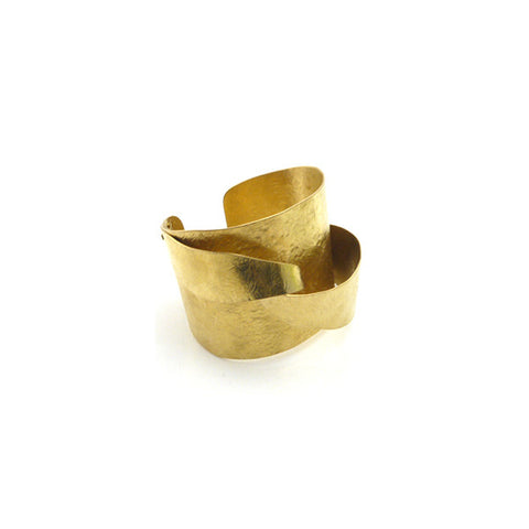 Brush Stroke Gold Bangle