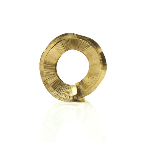 Pencil Shavings Gold Bangle