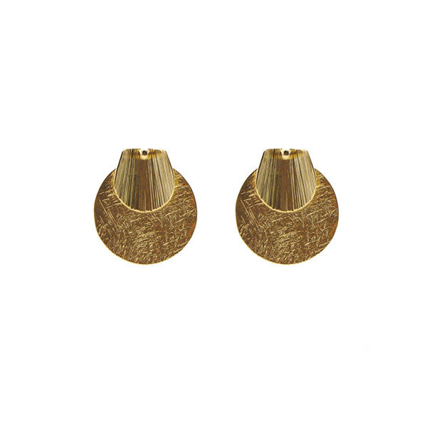 Peltate Duo Gold Studs