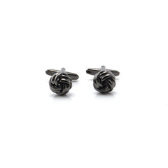 Basic Knots Black Cufflinks