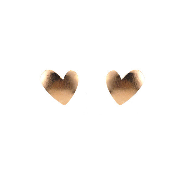 Heart Rose Gold Studs