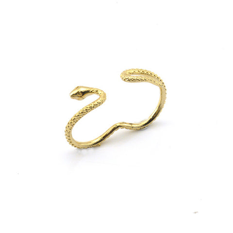 Snake Gold Double Ring