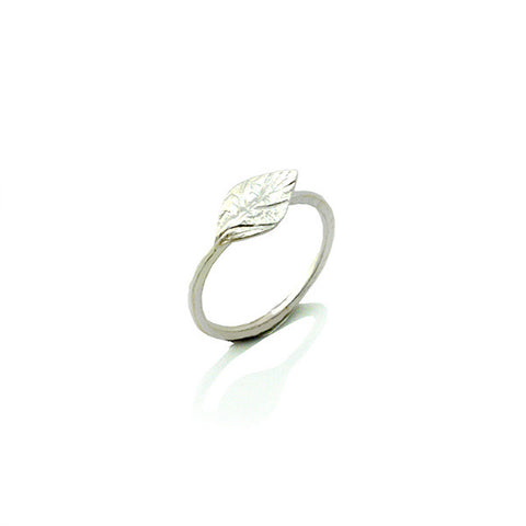 Small Leaf Silver Ring