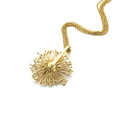 Spinning Sparkle Gold Necklace