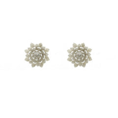 Lotus Flower Sterling Silver Studs