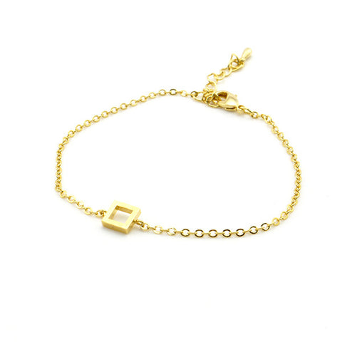 Cutout Square Gold Bracelet