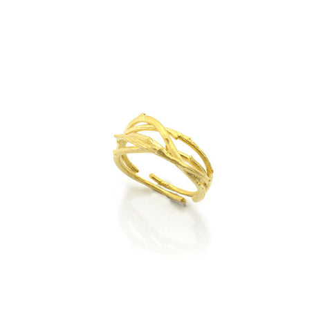 Thick Branch Gold Ring