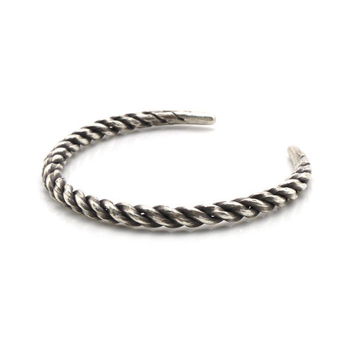 The Steel Rod Sterling Silver Bangle