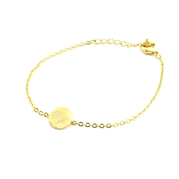 Solid Circle Gold Bracelet