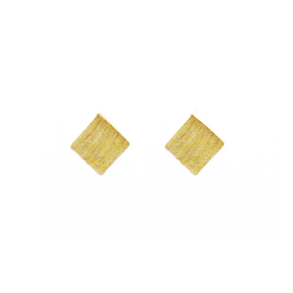 Cube Gold Studs