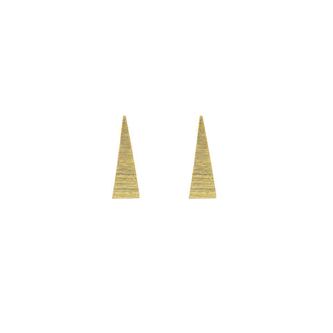 Long Triangle Gold Studs