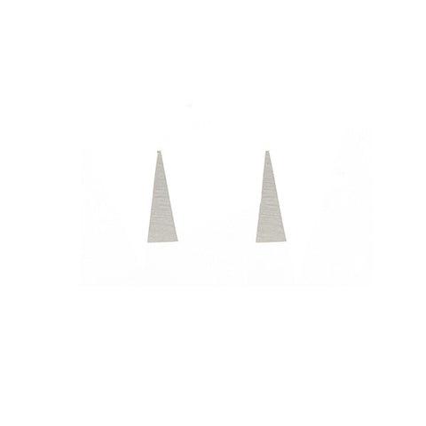 Long Triangle Silver Studs