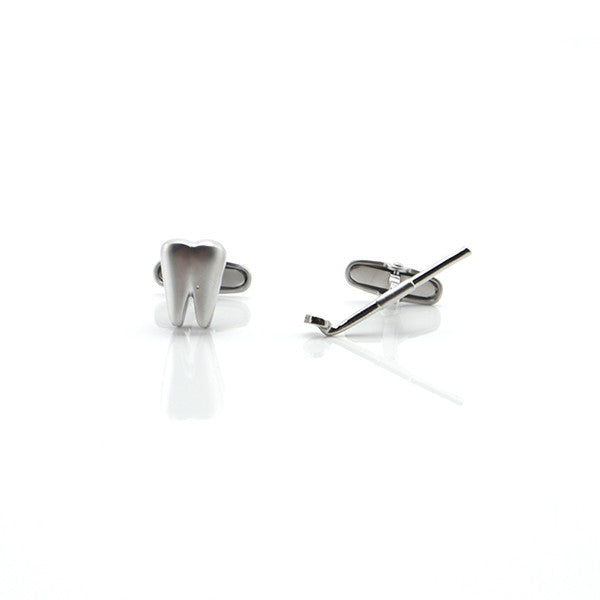Dentist Tooth and Mirror Cufflinks