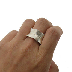 Cured Seaweed Sterling Silver Ring