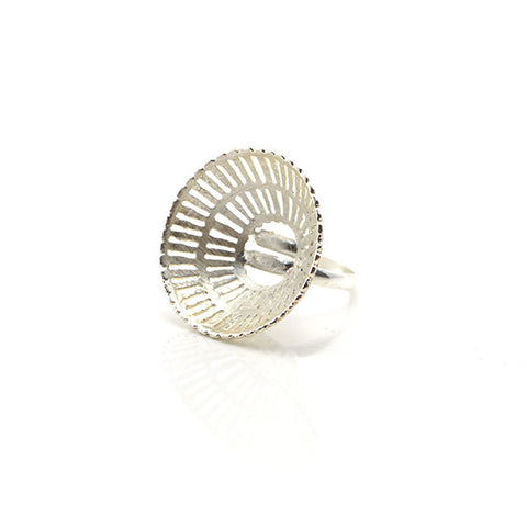 Wicker Cone Sterling Silver Ring