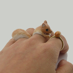 Squirrel Brown Triple Ring Set