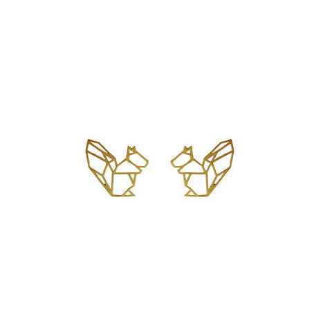 Squirrel Gold Studs