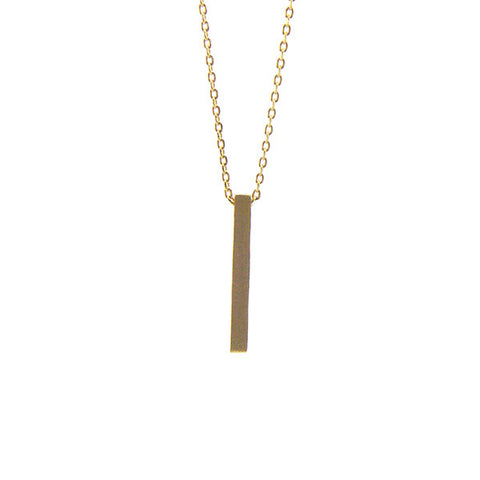 Bar Gold Short Necklace