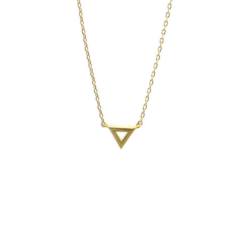 Cutout Triangle Gold Short Necklace