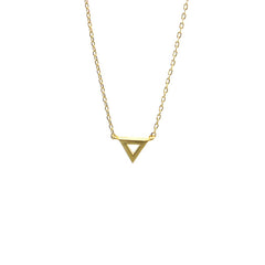 Triangle Cut Gold Short Necklace