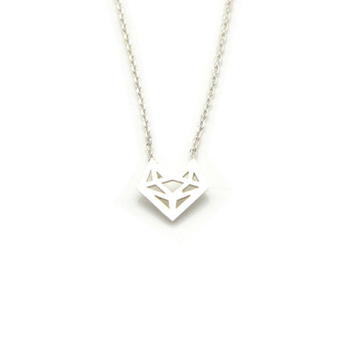 Fox Silver Short Necklace