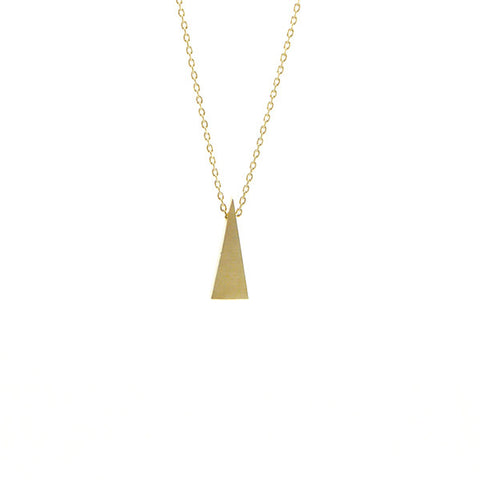 Long Triangle Gold Short Necklace