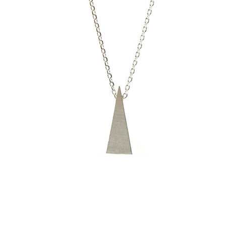 Long Triangle Silver Short Necklace