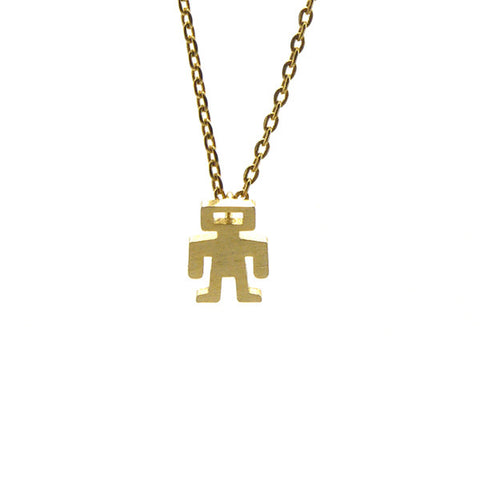 Astronaut Gold Short Necklace