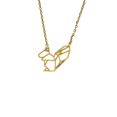 Squirrel Gold Short Necklace