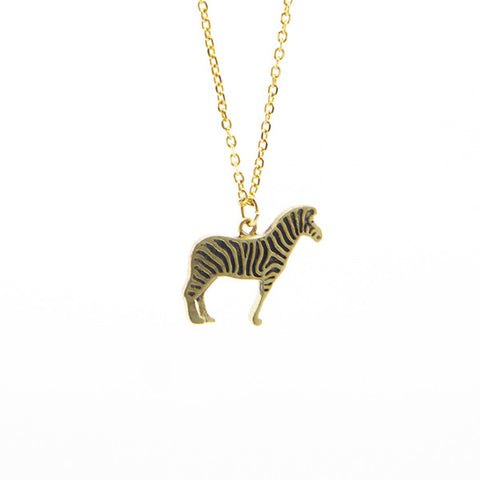 Zebra Gold Short Necklace