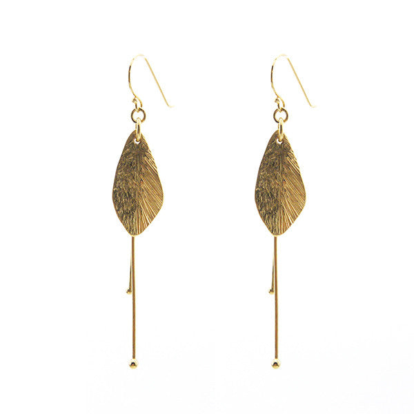Sida with Duo Filament Gold Earrings